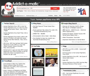 Addict-0-matic HPV webpage